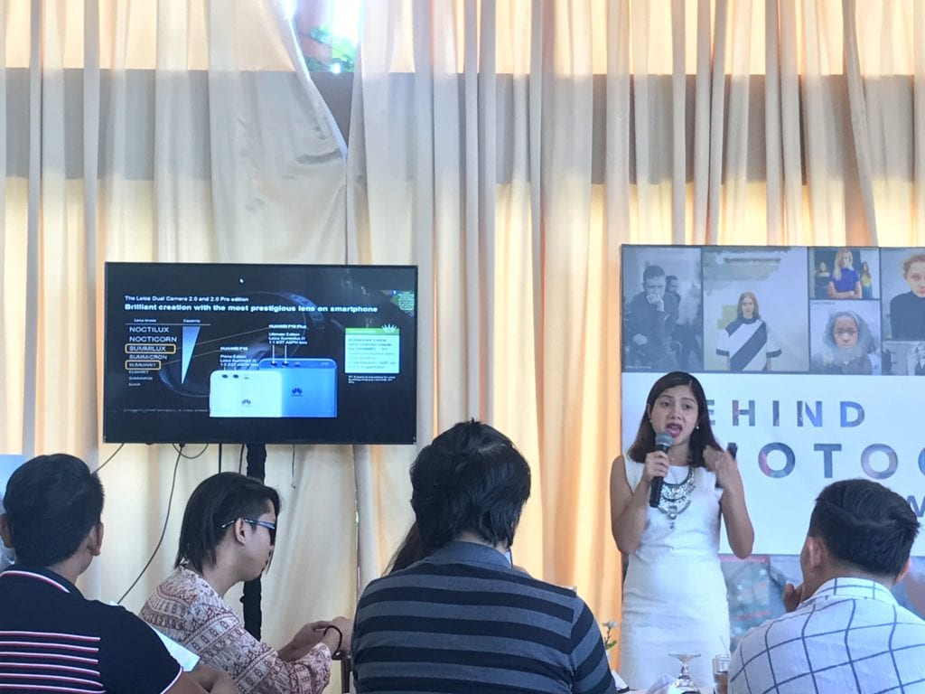 Corinne Bacani, Marketing Director of Huawei Philippines, talked about the features of the Huawei P10 and P10 Plus.