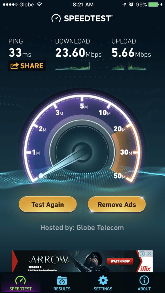 globe lte mobile wifi speed test