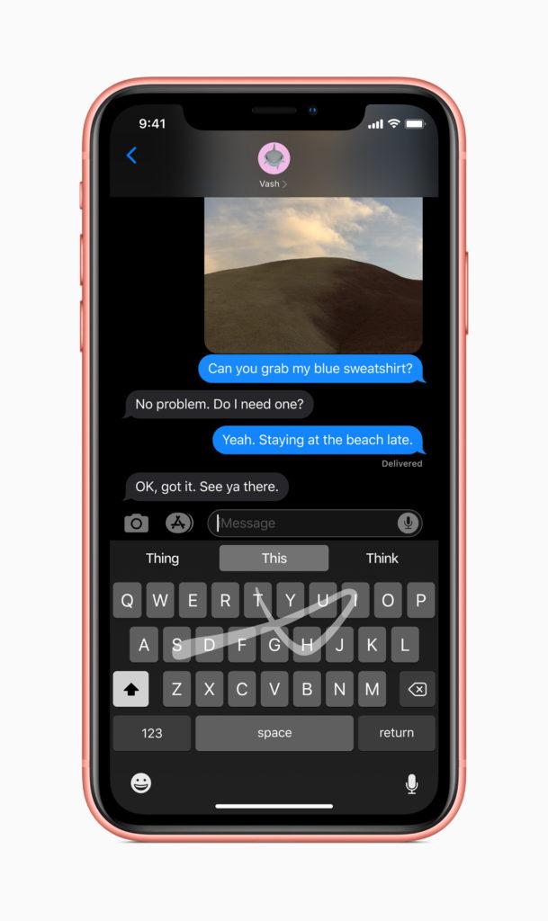 WWDC 2019 - iOS 13 - QuickPath keyboard